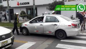 Taxista pasó por encima de mujer policía cuando era intervenido
