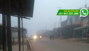 Pucallpa: densa neblina sorprendió a vecinos y retrasó vuelos