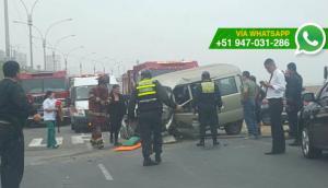Costa Verde: autos chocaron a la altura de San Miguel