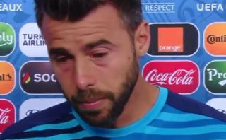 Barzagli rompió en llanto luego de eliminación en la Eurocopa