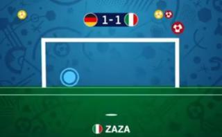 La tanda de penales del Alemania-Italia en versión animada