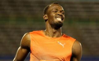 Usain Bolt se lesionó a un mes de los Juegos Olímpicos Río 2016
