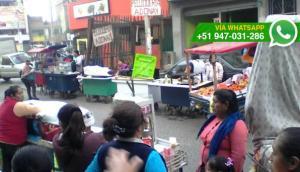 Ate: ambulantes convirtieron en mercado calle de Ceres