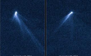 Un asteroide con seis colas, el nuevo descubrimiento de Hubble