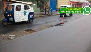 Chorrillos: pista presenta hundimientos tras cambio de tuberías