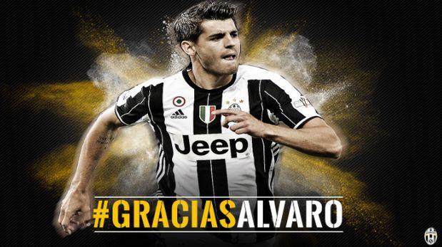Juventus se despidió de Álvaro Morata con sus goles en Facebook