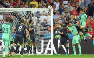 Cristiano Ronaldo marcó gol con impresionante remate de cabeza