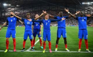 Francia festejó pase a la final al estilo de Islandia [VIDEO]