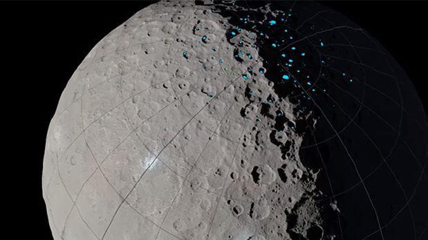 NASA: Cráteres del planeta enano Ceres pueden contener hielo