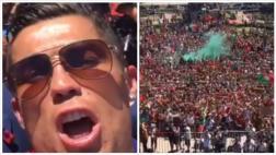 Cristiano Ronaldo grabó festejos de hinchas en Lisboa [VIDEO]
