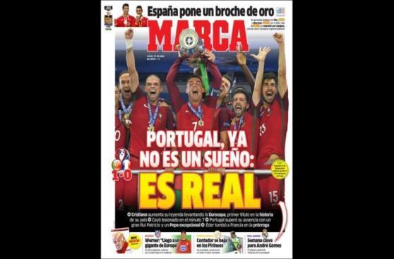Cristiano Ronaldo: prensa española dividida por 'su Eurocopa'