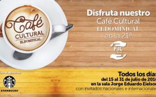 Café Cultural de El Dominical en la FIL Lima 2016