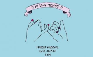 #NiUnaMenos: marcha contra violencia a la mujer el 13 de agosto