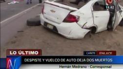 Dos personas murieron cuando volvían a Lima tras feriado largo