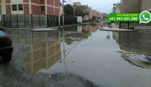 Chiclayo: así lucen las calles afectadas por aguas contaminadas