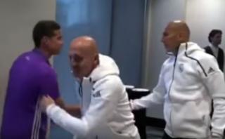 James Rodríguez y su tibio saludo con Zinedine Zidane [VIDEO]