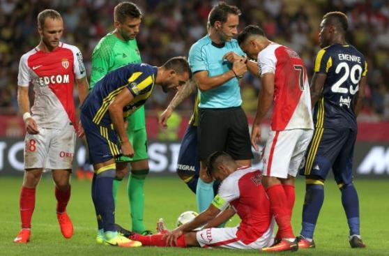 Radamel Falcao anotó con el Mónaco, pero se lesionó [VIDEO]