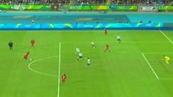 Paciencia anotó el 1-0 de Portugal ante Argentina con zurdazo