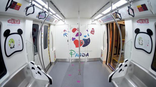 El tren del panda: metro de China se inspira en estos animales