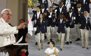 Río 2016: Papa Francisco mandó mensaje a equipo de refugiados