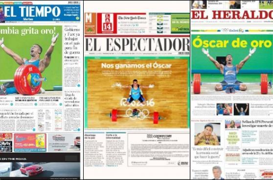 Río 2016: Óscar Figueroa acapara las portadas de Colombia
