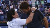 Lo que Del Potro le dijo a Maradona tras vencer a Djokovic