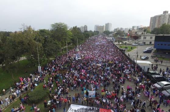#NiUnaMenos: así se desarrolló la marcha en Lima [FOTOS]