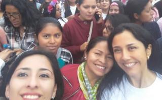 Ex primera dama Nadine Heredia participó en marcha #NiUnaMenos