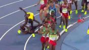 Río 2016: Mo Farah se cayó y puso en peligro su participación