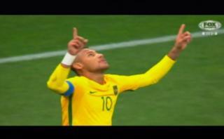 Río 2016: Neymar marcó así su primer gol con Brasil [VIDEO]