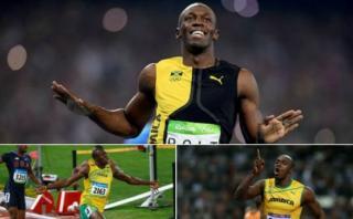 Usain Bolt y las tres finales de 100 metros que le dieron oro
