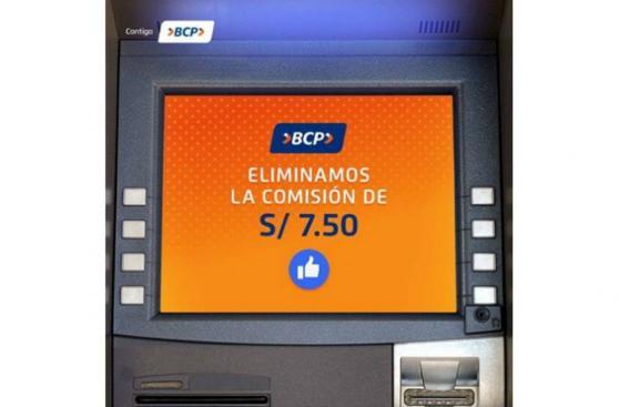 BCP también eliminará comisión por retiro a partir de octubre
