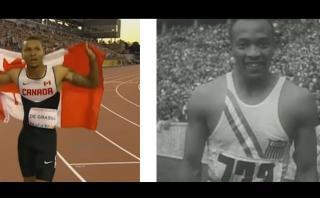 Andre De Grasse corre en las mismas condiciones que Jesse Owens