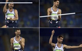 Festejó gran salto y medalla pero le cayó mala suerte [VIDEO]