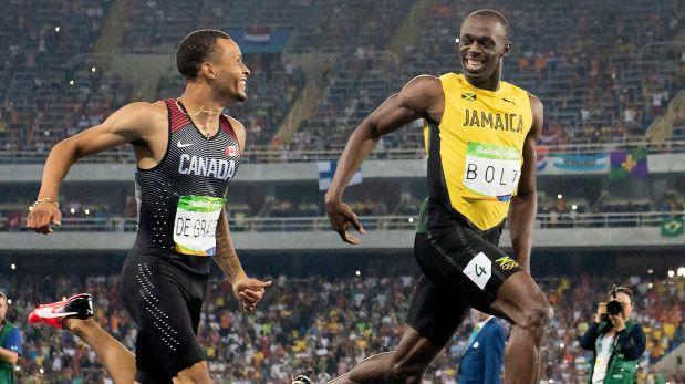Río 2016: ¿Qué se dijeron Usain Bolt y De Grasse en la llegada?