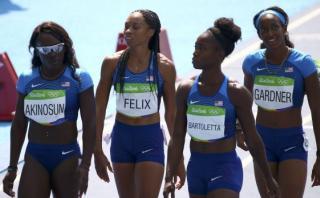 Río 2016: EE.UU. apeló y competirá de nuevo en relevos 4x100