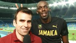 Usain Bolt también fue más 'rápido' que este periodista [VIDEO]