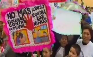 Escolares del Callao marcharon contra la violencia a la mujer