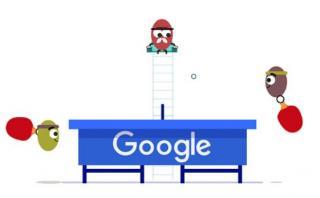 Google celebra el ping pong olímpico con nuevo doodle