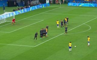 Río 2016: Neymar anotó fantástico gol de tiro libre a Alemania