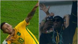 Río 2016: Neymar celebró como Bolt y así reaccionó el 'Rayo'