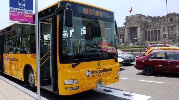 Metropolitano: buses llegarán a Mistura y servicio costará S/2
