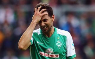 Claudio Pizarro no estará con Bremen en estreno de Bundesliga