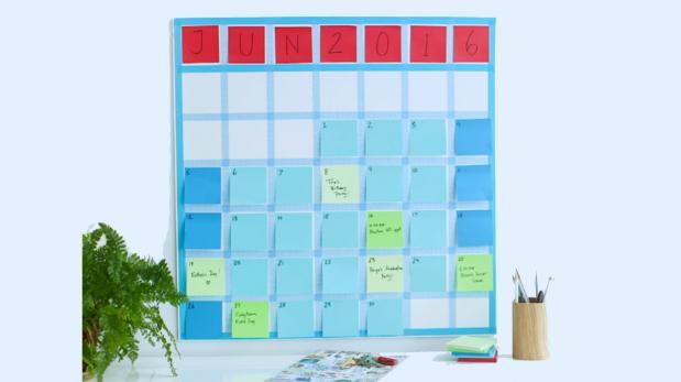 DIY: Crea un original calendario usando post-it