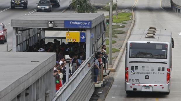 Metropolitano solo brindará servicios A, B y C este martes