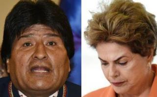 """Evo Morales y su férrea defensa de su """"hermana"""" Dilma Rousseff"""