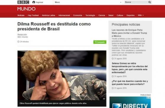 Así informaron los medios del mundo la destitución de Rousseff