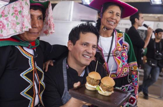 Mistura a s/ 5: Flavio Solórzano y su hamburguesa de quinua
