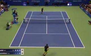 US Open: Nadal dejó boquiabierto al público con gran punto