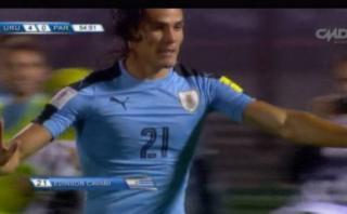 La increíble potencia de Luis Suárez en segundo gol de Cavani